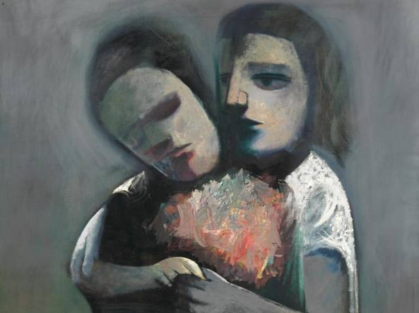 Charles Blackman (1928), «Two women» (1962, olio su tela), courtesy dell'artista