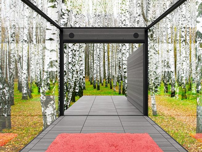 Pareti a specchio e tetto trasparente: ecco casa «invisibile»