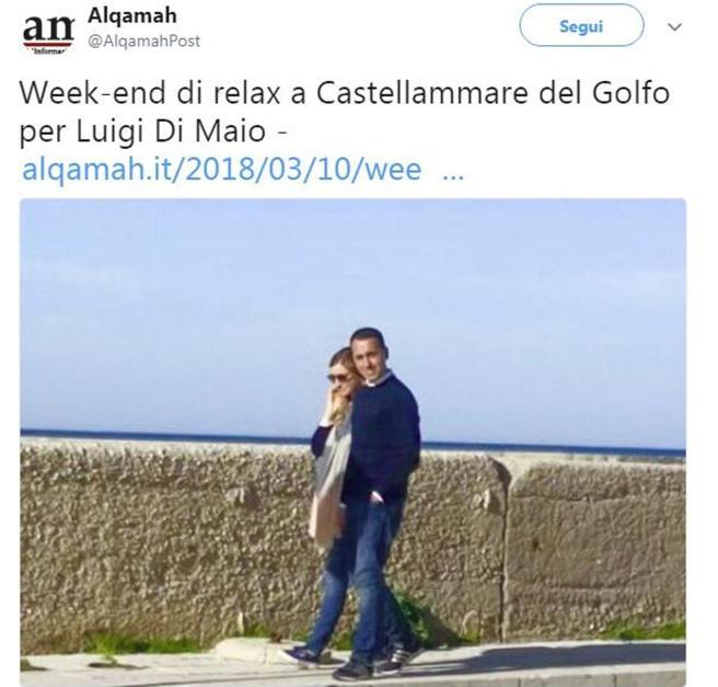 Di Maio e Giovanna Melodia, la breve vacanza in Sicilia
