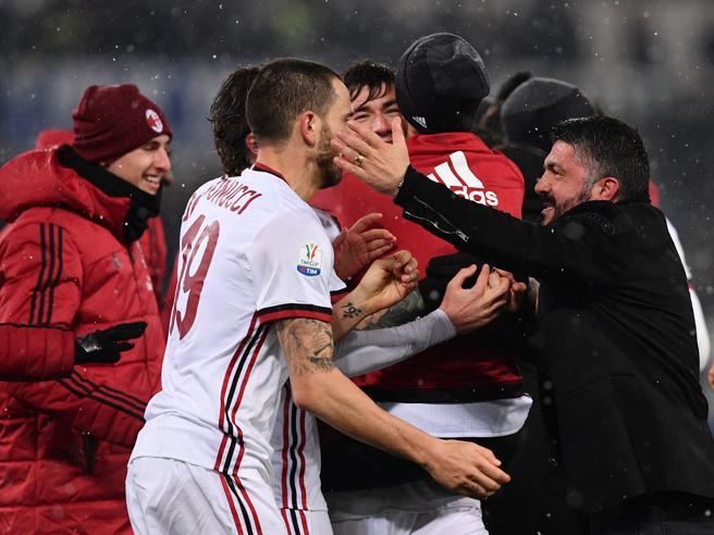 Milan, Gattuso e quelle «sberle» in faccia ai giocatori per festeggiare
