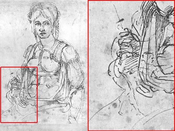 Autoritratto Michelangelo 'nascosto' in un disegno