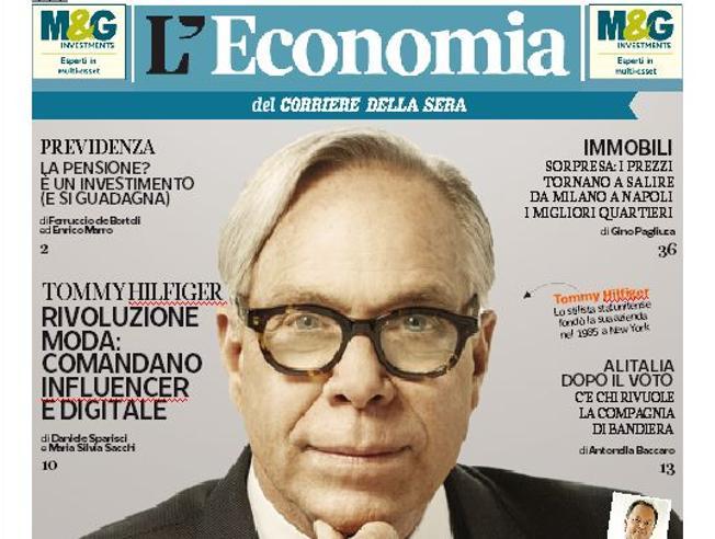 Tommy Hilfiger: vi racconto la moda tech L'Economia lunedì gratis