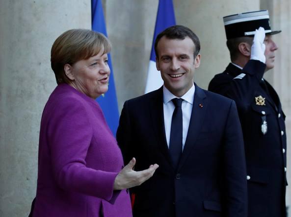 Macron e Merkel sul voto in Italia: