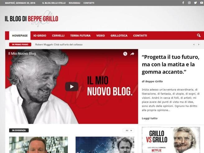 Grillo, M5S via dal blog. Crollano i contatti ma lui guadagna di più