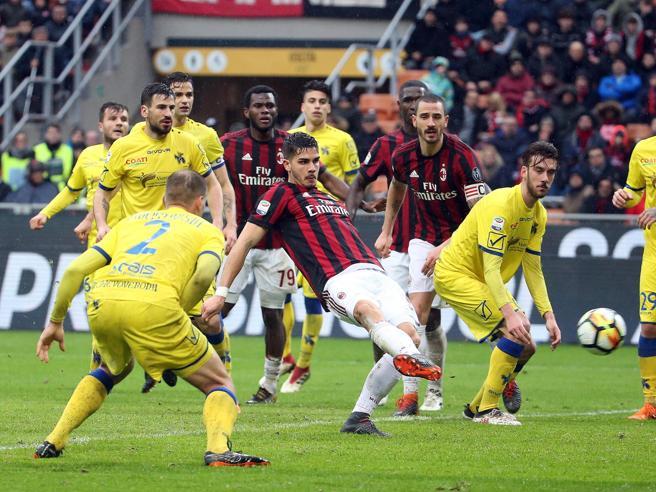 Milan-Chievo 3-2, rimonta rossonera condotta da Cutrone e André Silva
