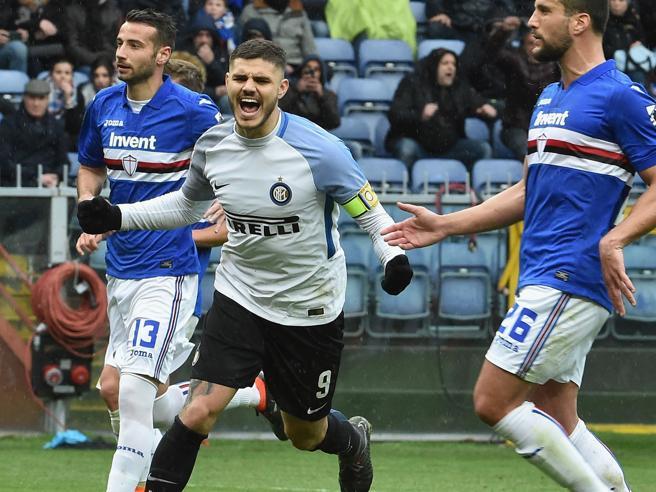 L'Inter travolge la Samp4 gol di  Icardi, finisce  0 5Mila