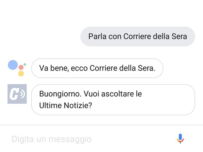 Così potete parlare con il Corriere della Sera con l'assistente di Google