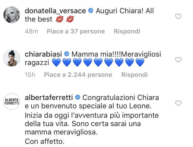 Chiara Ferragni, pioggia di auguri vip Da Donatella Versace a Poppy Delevingne