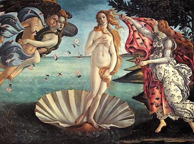 «Un simbolo nascosto sotto il manto della  Venere di Botticelli»