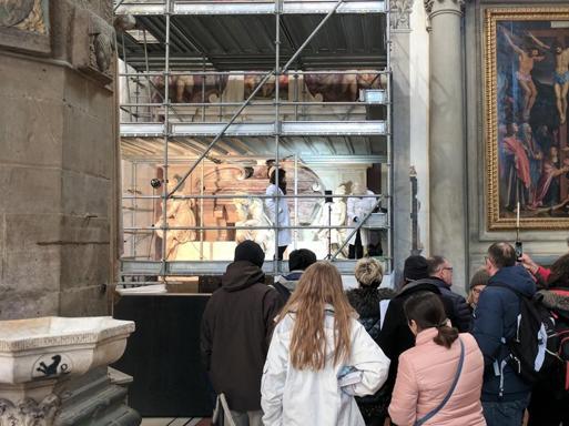 Riapre  la tomba di Michelangelo Nella Basilica di Santa Croce