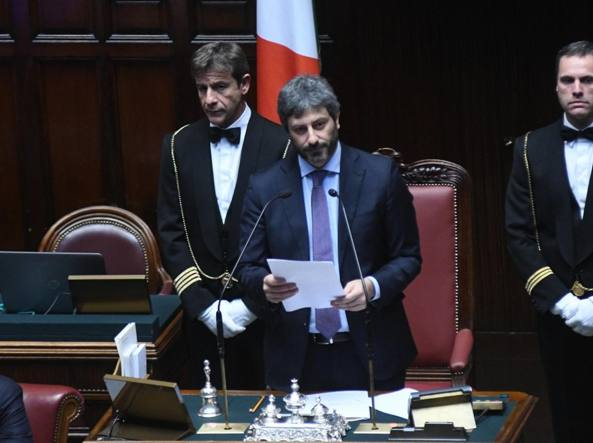 Roberto Fico, del M5S, appena eletto presidente della Camera (Omniroma)