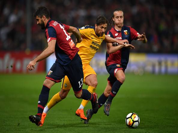 Genoa-Verona 3-1, tris che vale una salvezza