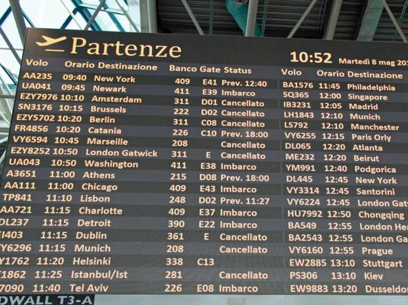 Scioperi dei controllori di volo, cancellate oltre 700 tratte