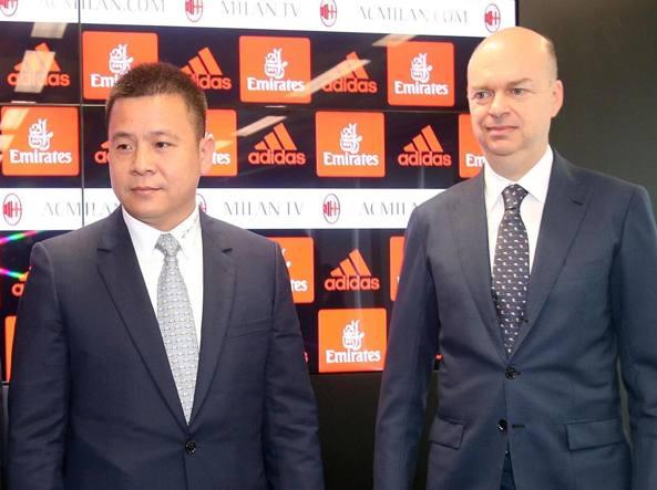 Yonghong Li e Marco Fassone vertici del Milan