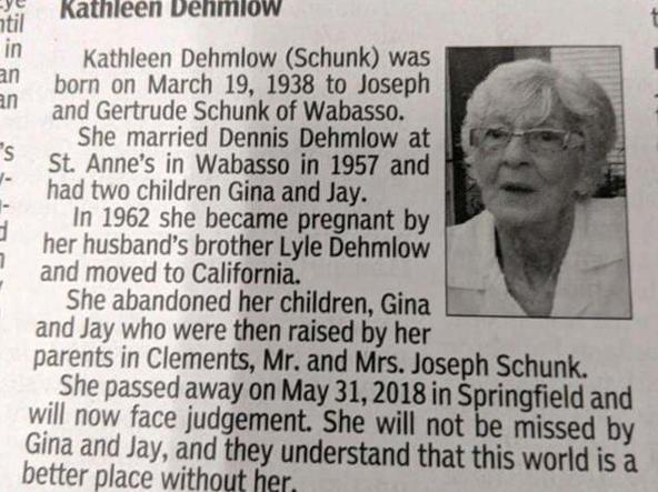«Il mondo sarà un posto migliore senza di lei». Il necrologio della famiglia per una 80enne americana
