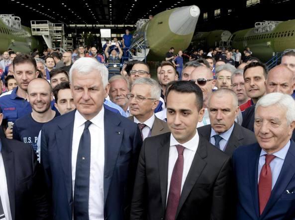 Da sinistra Alessandro Profumo, Luigi Di Maio e Gianni De Gennaro