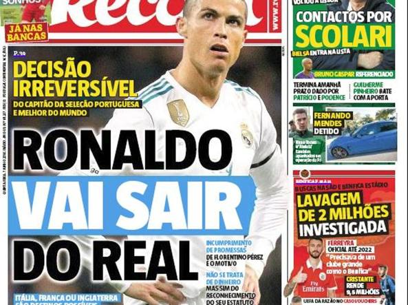 Real Madrid, dal Portogallo: possibile futuro in Serie A per Cristiano Ronaldo