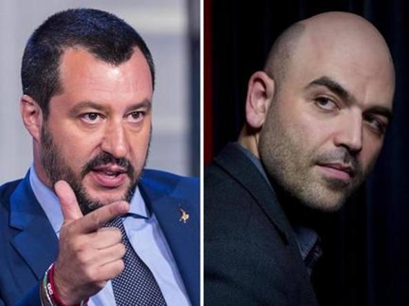 Saviano risponde a Salvini: