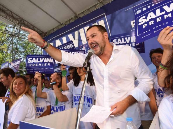 Salvini a Pontida: