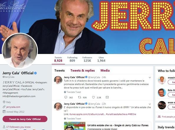 Governo: Jerry Calà plaude e Di Maio apprezza, 'libidine.!'