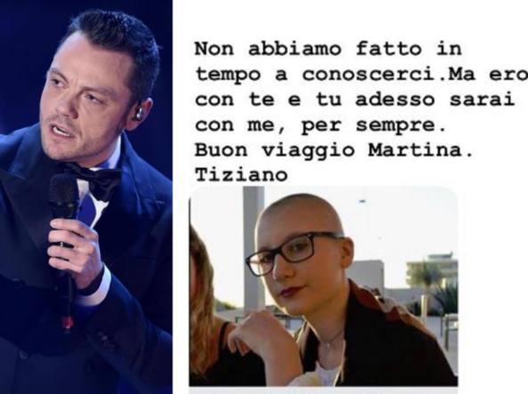 La dedica di Tiziano Ferro a Martina, la 19enne morta prima della maturità: «Adesso...