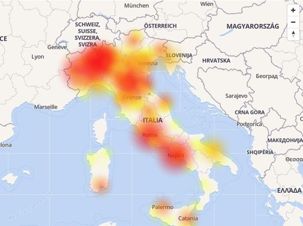 Rete 3 down a Roma: connessione dati ko, internet non funziona