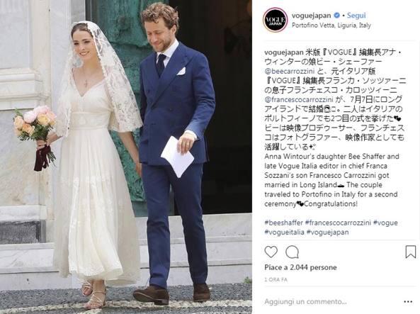 Un abito da sposa (da sogno) per la figlia di Anna Wintour
