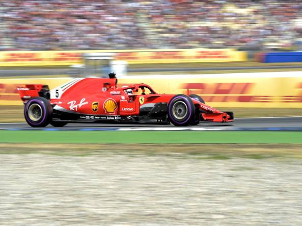 F1: la Ferrari di Vettel in pole in Germania, Hamilton quattordicesimo