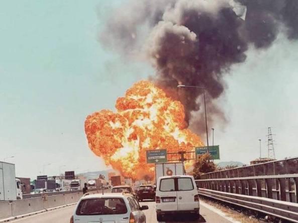 Esplosioni a Bologna: anche un camionista ciociaro nell'inferno sul raccordo