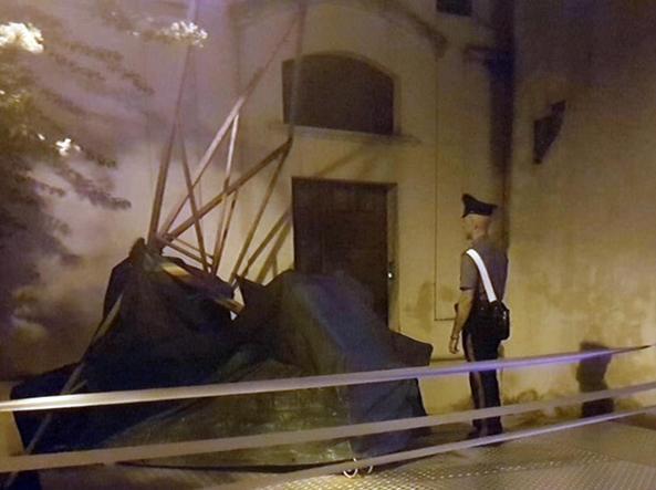 The intervention of the Carabinieri (Ansa)