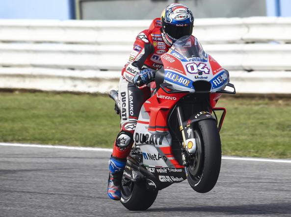 La Ducati di Lorenzo in pole a Misano. Marquez 5°, Rossi 7°