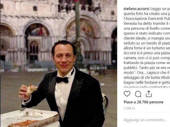 Pizza a San Marco, Accorsi replica alle critiche: