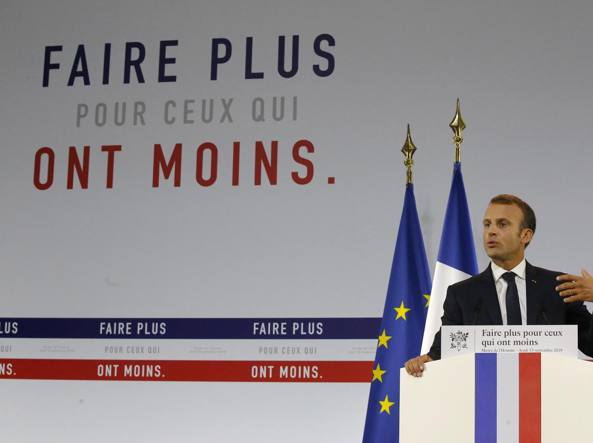 L'annuncio di Macron: