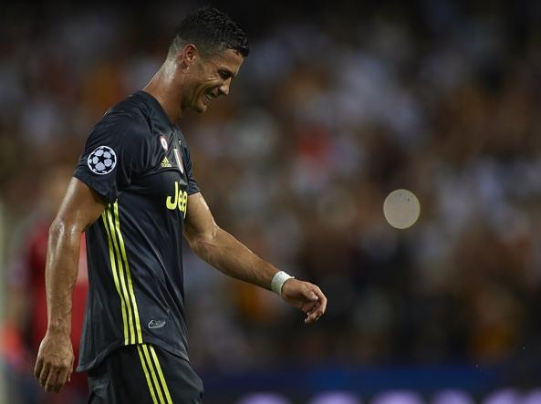 Cristiano Ronaldo espulso in Valencia-Juventus: scintille con Murillo