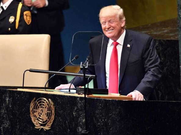 Trump: 'Progressi incredibili dallo scorso anno', risate all'Onu