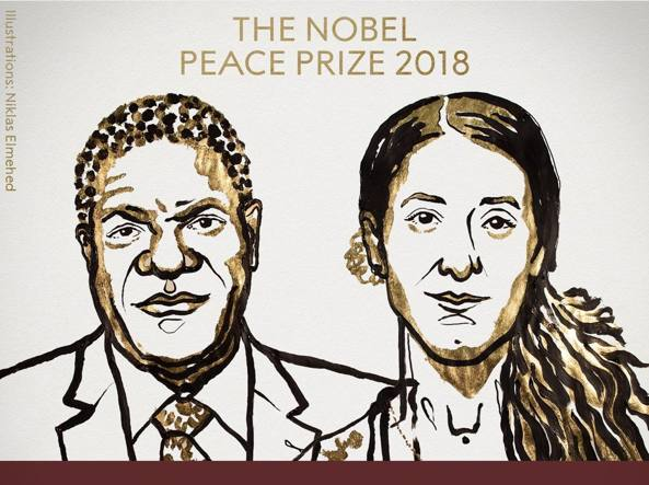 Nobel per la pace a Nadia Murad e a Denis Mukwege