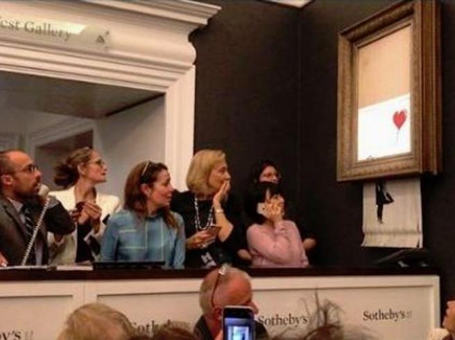 Arte: Banksy rivela il meccanismo di autodistruzione della sua opera