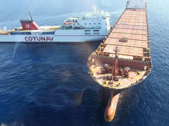 Collisione tra mercantili al largo della Corsica
