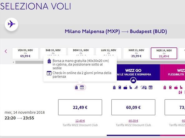 Bagaglio a mano a pagamento: multe severe a Ryanair e Wizz Air