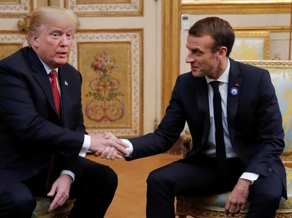 Macron sfida Trump a Parigi: