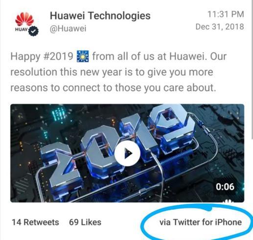 Huawei punisce 2 dipendenti, hanno twittato con l'iPhone