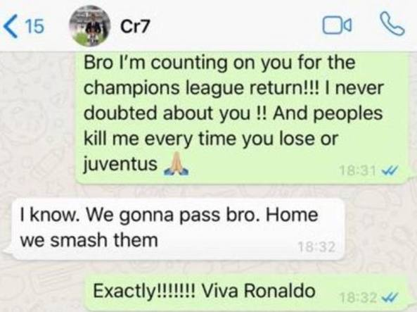 Cristiano Ronaldo, profezia a Evra su Juve-Atletico: