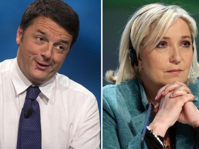 Matteo Renzi attacca Marine Le Pen in francese
