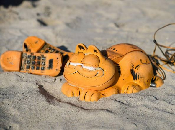 Dopo 35 anni risolto il mistero dei telefoni-Garfield sulle spiagge