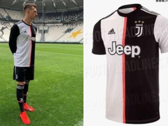 Juve, svelata la nuova maglia 2020, addio strisce verticali!