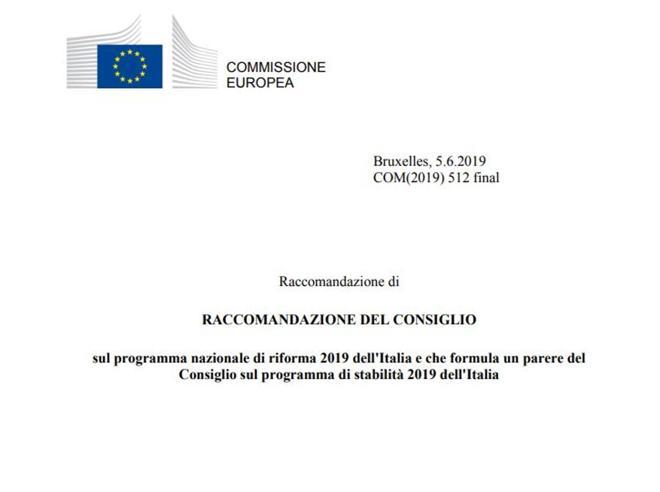 Debito: la Commissione raccomanda la procedura d'infrazione contro l'Italia