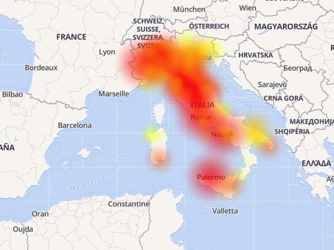 Guasto alla rete Vodafone su larga parte d'Italia