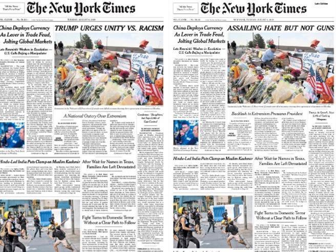 Il New York Times sbaglia il titolo sul discorso di Trump