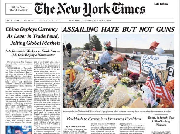 Il New York Times cambia titolo dopo le polemiche