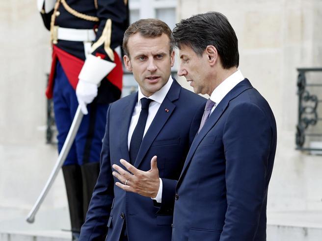 Conte incontra Macron: